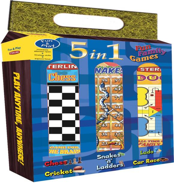 STERLING 5 in 1 Fun Family Games (Carpet Games) - Sterling Indoor Sports Games Board Game