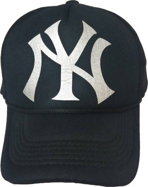 34e416e83e5 Friendskart Printed Printed Black Grey Ny Printed In Black Colour Half Net  Cap