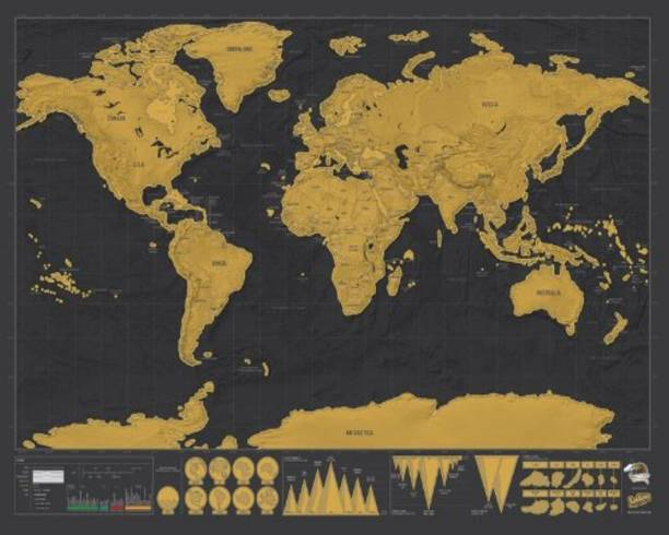 Posters buy wall posters online at best prices in india flipkart club lane new deluxe travel edition scratch off world map poster personalized journal map paper gumiabroncs Image collections