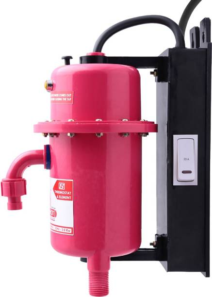 Mr.SHOT 1 L Instant Water Geyser (Prime, 2 No's Screw with wall sleeve, 1 No Royal union,, 2 No's Connecting nipple)