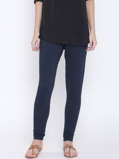 89bcdb614b0ca2 Dark Blue Leggings - Buy Dark Blue Leggings Online at Best Prices In ...