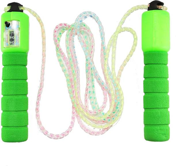 Maharsh Skipping Rope With Counter Anti slip Rubber Grip & Adjustable Length Skip Jump Number Count Upto 999 Freestyle Skipping Rope