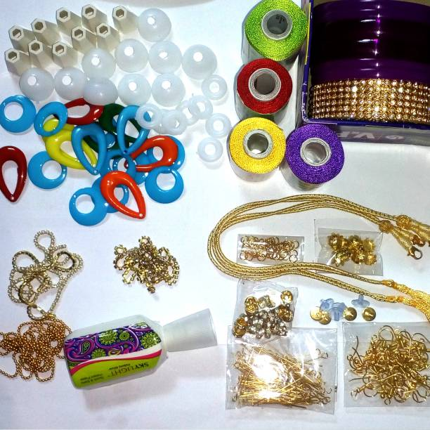 Do it yourself kits toys buy do it yourself kits toys online at vahvaa silk thread jewelery making fully loaded box with all accessories solutioingenieria Image collections