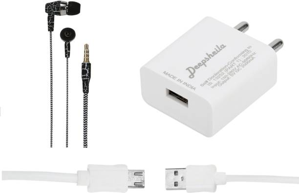 Deepsheila Wall Charger Accessory Combo for MICROMAX UNITE 4 PRO