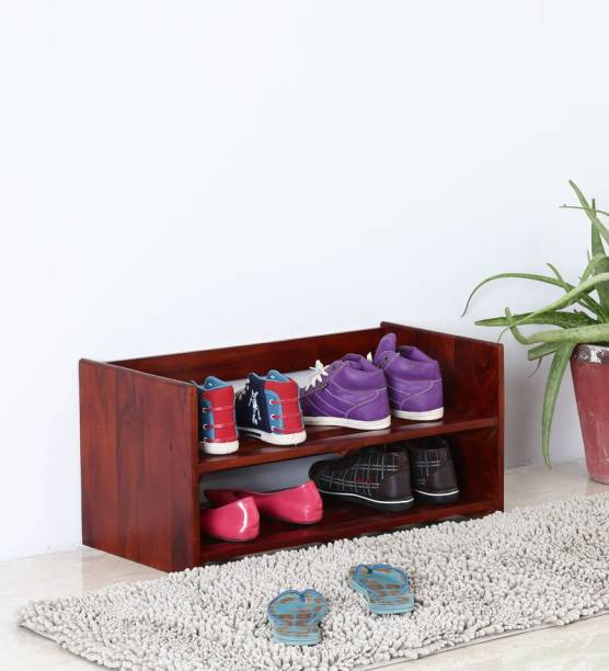 Wood Mania Solid Wood Shoe Stand