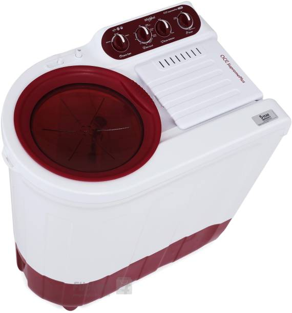 Whirlpool 7 kg Semi Automatic Top Load Red