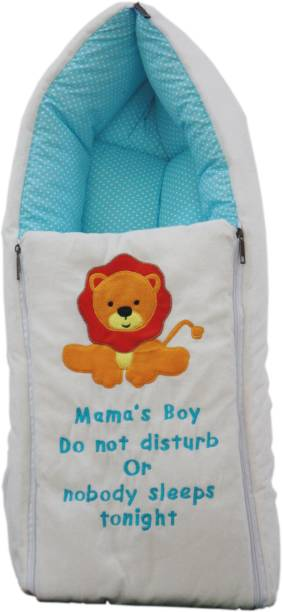 Amardeep Blue Color Baby Sleeping Bag Cum Baby Carry Bag 64*41 cms Sleeping Bag