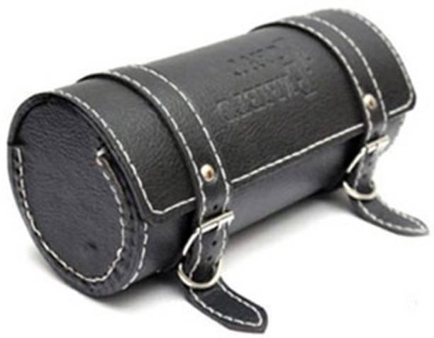SCORIA BULLET One-side Black Genuine Leather Motorbike Saddlebag