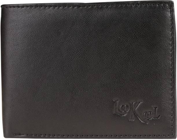 Look-kool Men Black Genuine Leather Wallet