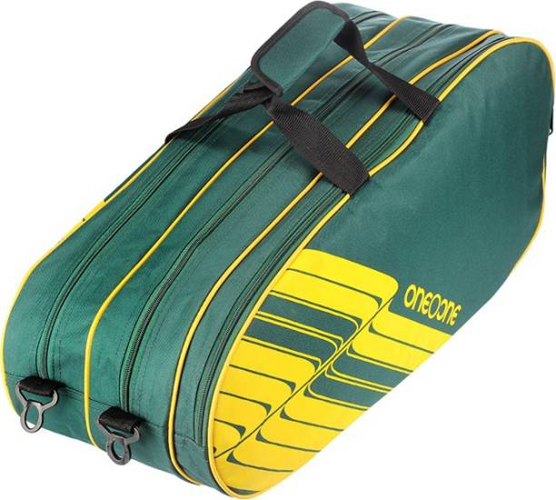 One O One Lines Collection Triple Forest Green - Badminton / Tennis Kitbag