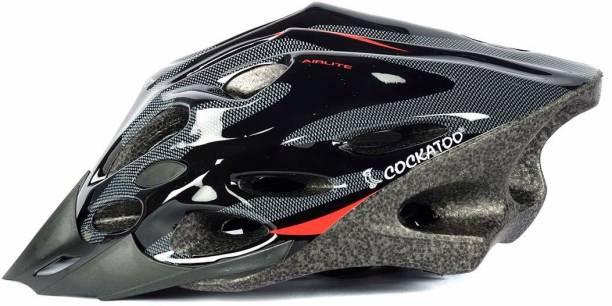 COCKATOO Black Red Cycling Helmet