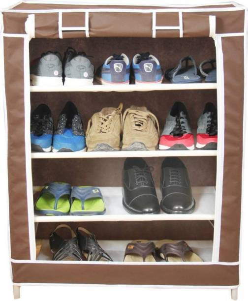 CDI 4 SHELVES COLLAPSIBLE SHOE RACK Plastic Collapsible Shoe Stand