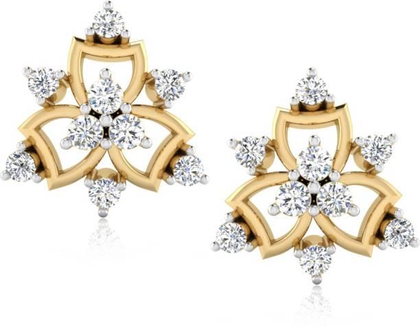 cfd1bfd8f IskiUski Dalena Earrings Yellow Gold 18kt Swarovski Crystal Stud Earring