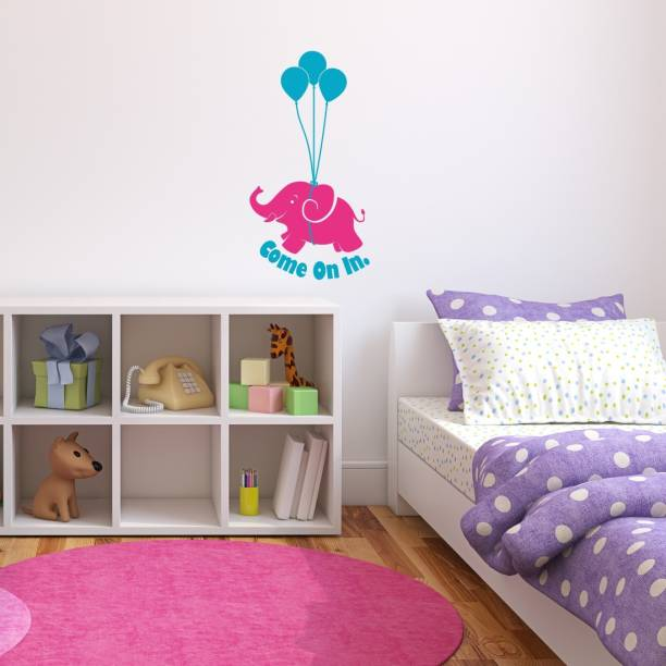 Nilaya by ASIAN PAINTS Large Wall Ons Door Cute Elephant Wall Sticker