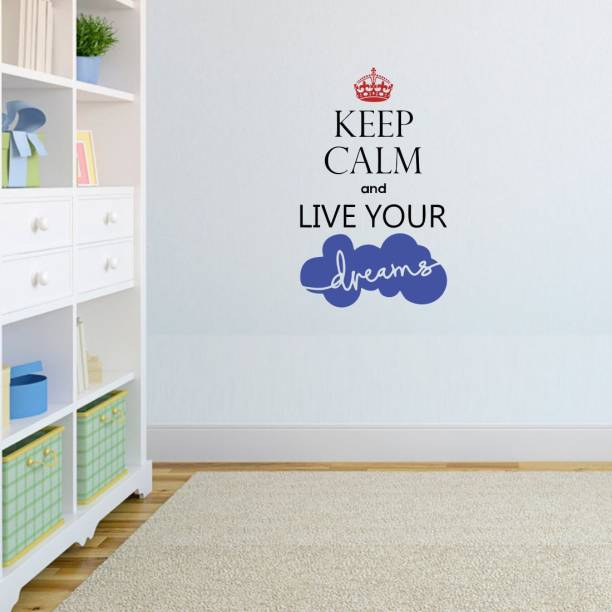 1ab5718dd4e Nilaya by Asian Paints Large Wall Ons Keep Calm Dreams Wall Sticker Sticker