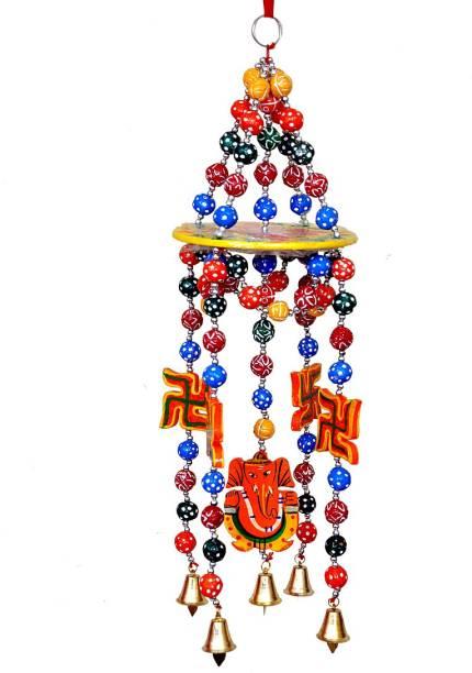 Pingaksh Crafty Collection Shubh Ganesha Jhumar Door Hanging Mandir Décor Toran