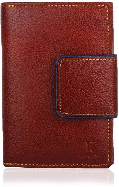 K London Women Brown Genuine Leather Wallet