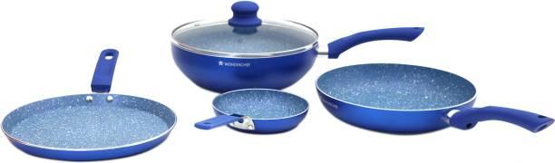 WONDERCHEF Royal Velvet Blue Set of 5Pcs - Induction Base Induction Bottom Cookware Set