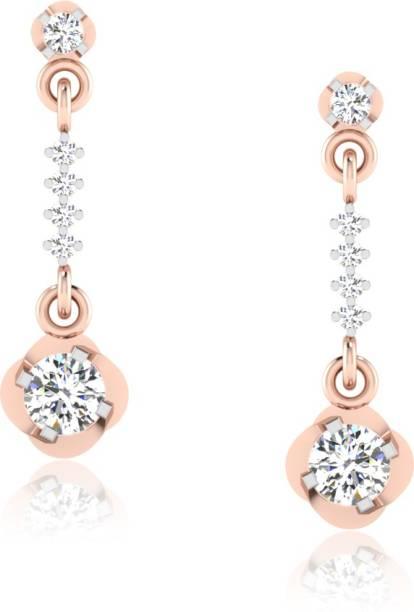 9d95aed6e IskiUski Wedding Jewellery Rose Gold 18kt Swarovski Crystal Drop Earring