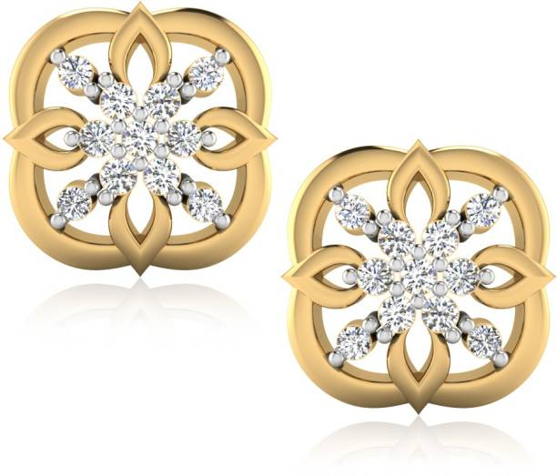 2bc7801a11b6d IskiUski Varek Earrings Yellow Gold 18kt Swarovski Crystal Stud Earring