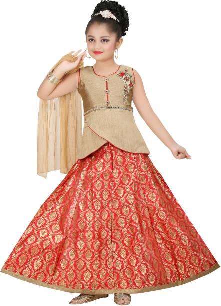 c4ddd67512 Trendy Girls Girls Lehenga Choli Ethnic Wear Embroidered Lehenga Choli