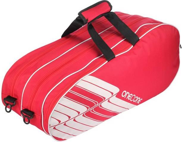 One O One Lines Collection Triple Red White - Badminton / Tennis Kitbag Badminton Kitbag