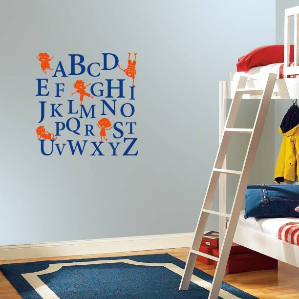 Nilaya by ASIAN PAINTS Large Wall Ons Alphabets Kids Wall Sticker
