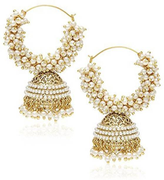 Ethnic Traditional Gold Sliver Chandbali Kundan Jhumka Jhumki Drop Earrings For Women Christmas Gifts New Drop Earrings
