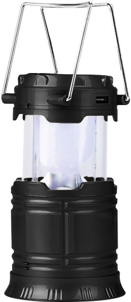 E 2 G Solar Lantern With Inbuilt USB Power Bank (JH 85) Black