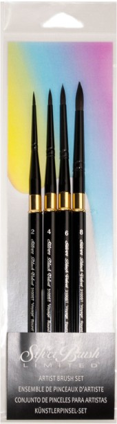 Silver Brush Limited Black Velvet Watercolor Basic Set 4Pcs
