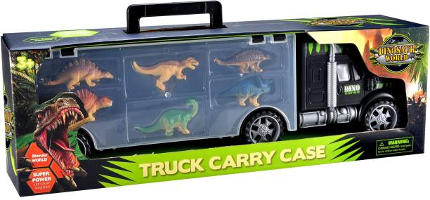 Toys Bhoomi 2 in 1 Long Haul Dinosaur Carrier Truck Case