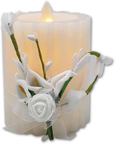 Tuelip Flower Candle Plastic Swing White Candle