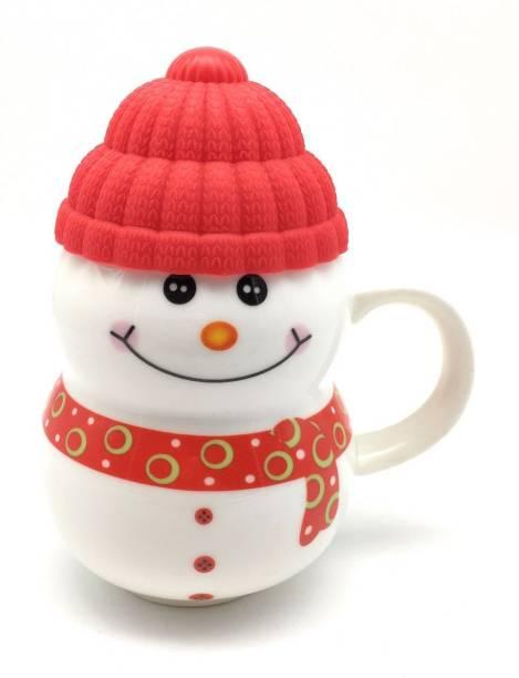 Satyam Kraft snow man shape ( Random color ) Ceramic Mug