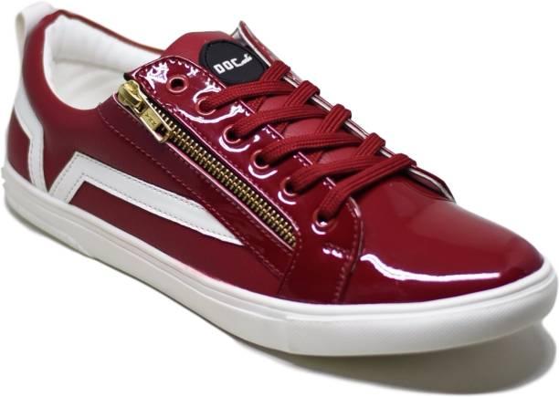 Doc Martin Carvil Red Sneakers For Men