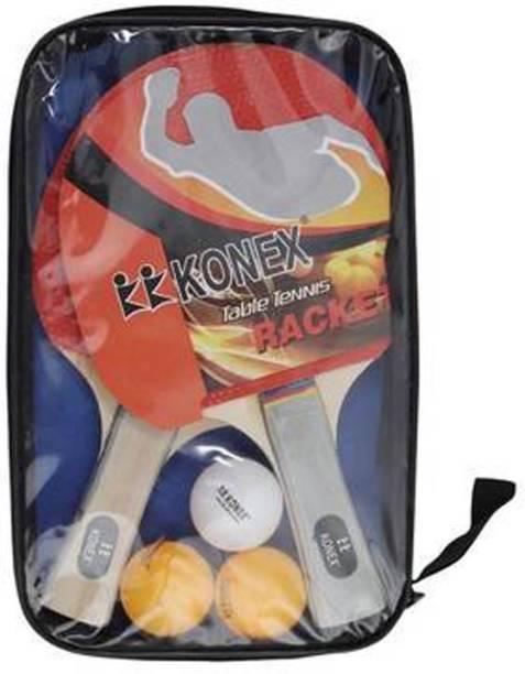 KK Konex Konex Wood Table Tennis Racquet Set (Multi-Coloured) Multicolor Table Tennis Racquet