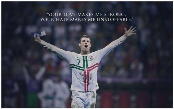 Cristiano Ronaldo Poster for room Paper Print