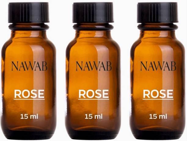 NAWAB Setof 3 Rose essential aroma Diffuser oil(15ml each) Aroma Oil
