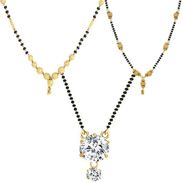 Zeneme Women s Pride Peacock Design Mangalsutra Combo with Chain for Women  Alloy Mangalsutra 6fc2d73df