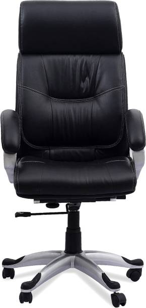 DZYN FURNITURES CasaDorna Premium Ergonomic Big & Tall Executive Office Chair with Premium Leatherette Upholstery Best Swivel Chair Thick Padding and Soft Armrest for Home Office Leatherette Office Executive Chair