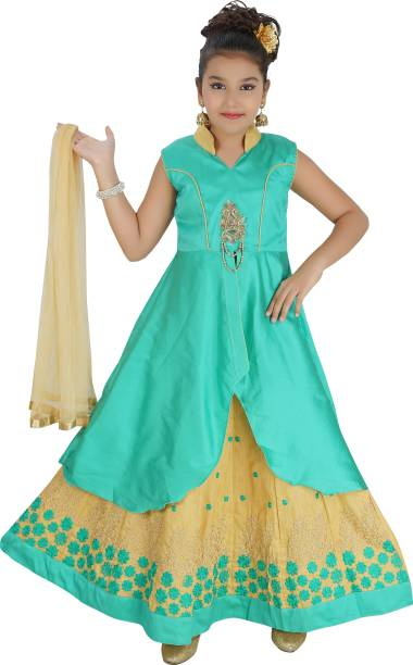 47f4374ec1 Saarah Girls Lehenga Choli Ethnic Wear Self Design Lehenga Choli