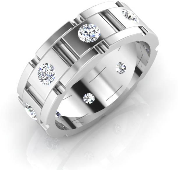 7817fbdbab9d IskiUski Wedding Gents Ring 18kt Swarovski Zirconia White Gold ring