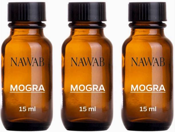 NAWAB Set of 3 Mogra essential aroma Diffuser oil(15ml each) Aroma Oil