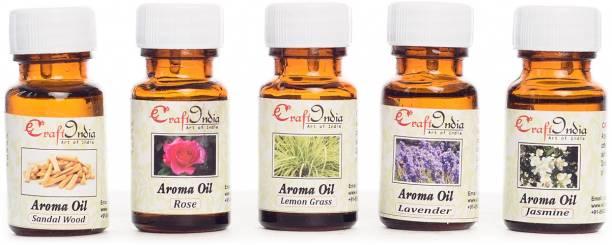 eCraftIndia Rose, Lemon Grass, Jasmine, Sandalwood, Lavender Aroma Oil