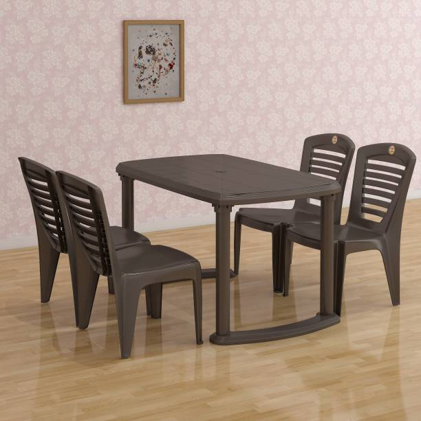 cello I Brown Plastic Table & Chair Set