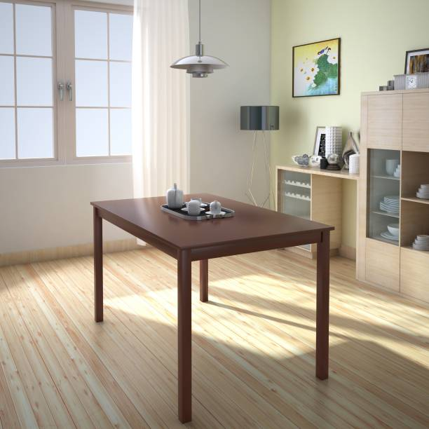 @Home by nilkamal Solid Wood 4 Seater Dining Table