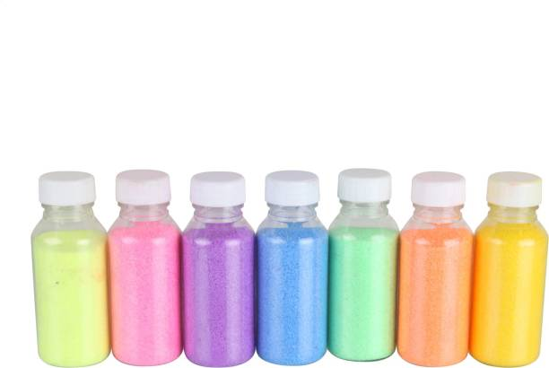 Tryfeet Multicolor Rangoli Color Holi Color Powder Pack of 7