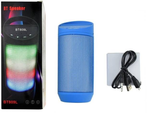 RCE BT809L-(Blue) Wireless Bluetooth Speaker For Mobiles / Tablets, standalone use with USB and TF card, Colorful Led Lights Flashing Bluetooth Mobile/Tablet Speaker Bluetooth Mobile/Tablet Speaker 80 W Bluetooth Speaker