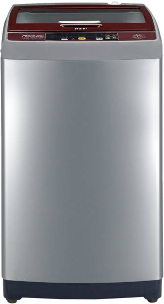 Haier 7.5 kg Fully Automatic Top Load Silver