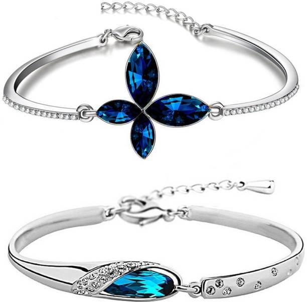 4526c4e52fc34c Om Jewells Alloy Crystal Rhodium Bracelet. Om Jewells Alloy Crystal Rhodium  Bracelet. Pack of 2