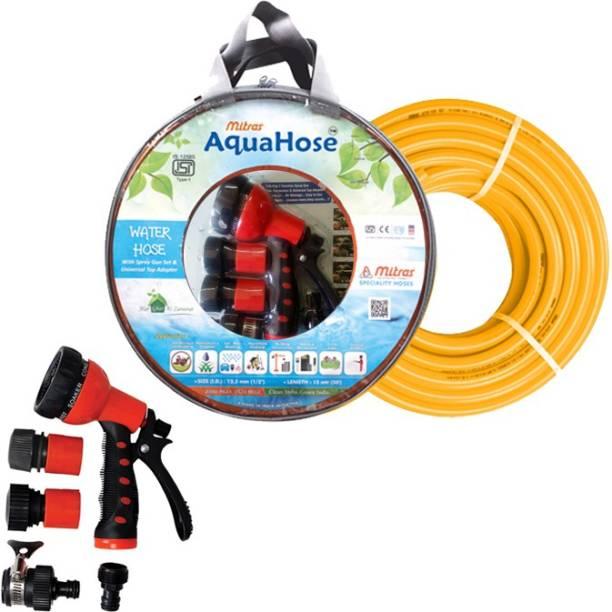 AquaHose Water Hose Set Orange 7.5mtr (20mm ID) Hose Pipe Vehicle Brake Cleaner